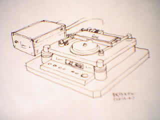 "In this drawing, the 47 Labs CD transport has square ""ordinary"" power supply."
