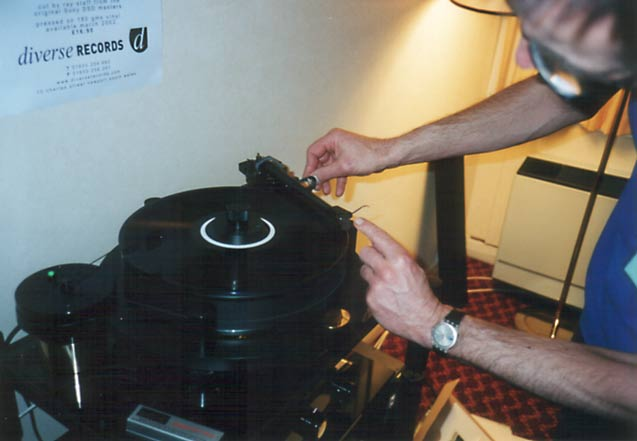 John Richards cueing acetate on an Orbe