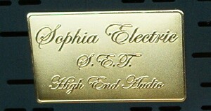 [Sophia Electric Plaque, Top of Transformer Cover]