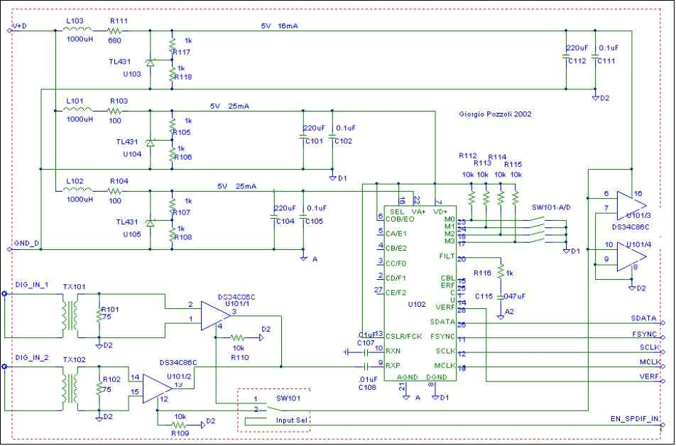 [MW DAC 1541A receiver schematic]