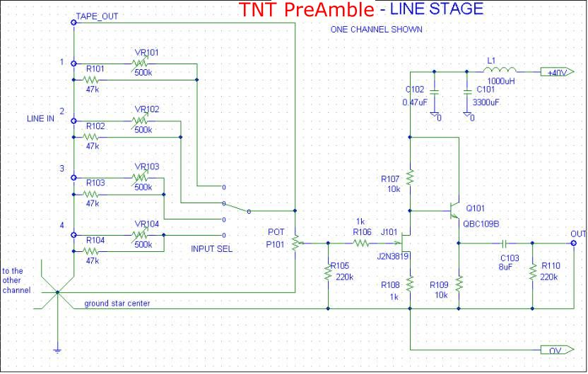 [TNT PreAmble Line Stage schematic]