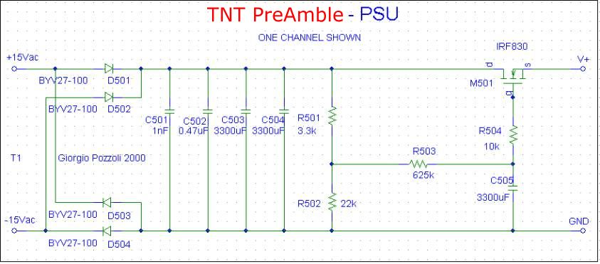 [TNT PreAmble PSU schematic]
