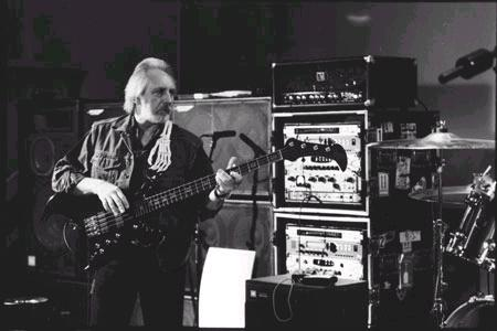 [rehersal in preparation of The Who's 2002 reunion tour, copyright Ross Halfin 2002]