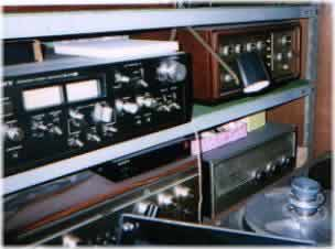 [At the bottom of far-right side of the rack is Kondo-san's first preamplifier (circa 1975)]