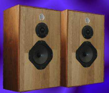 The rebuilt IPL A2 speaker kit in reclaimed Mordaunt Short Pageant II cabinets.