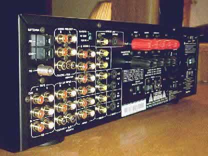 [The Rear of the Arcam AVR 100]