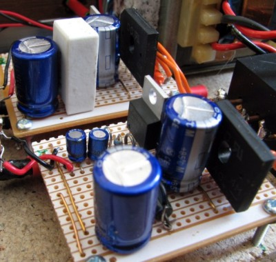 [Part of the new power supply for the modified DacKit]