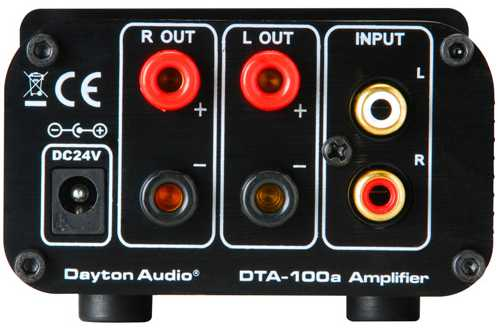 [Dayton Audio DTA-100a - rear view]