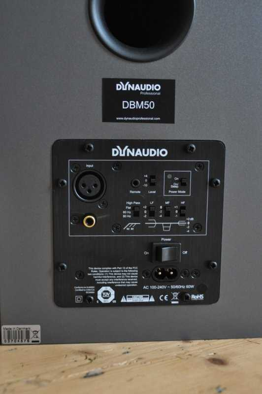 [Dynaudio DBM50 - rear view]