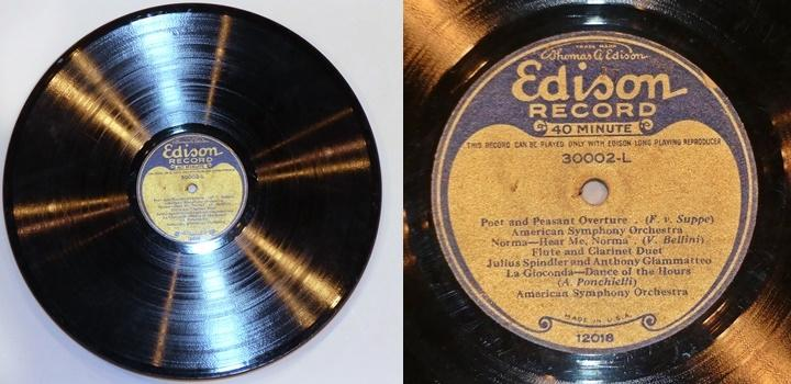 [Edison long playing record]