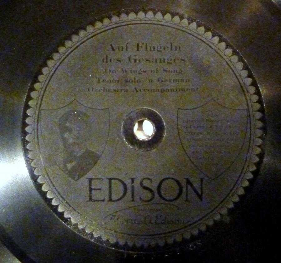 [Edison disc, etched label]