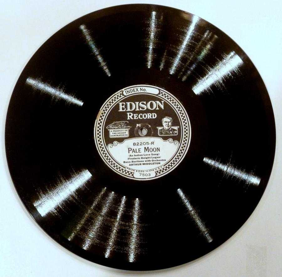 [Edison disc, paper label]