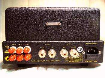 [Yarland FV-34C valve amplifier - rear view]