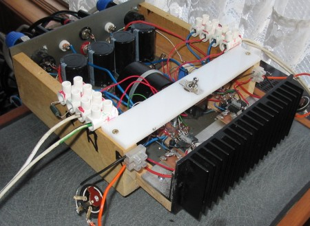 [OPA541 chip amp built using a Resurrector]