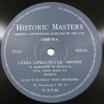 [Historic Masters label]