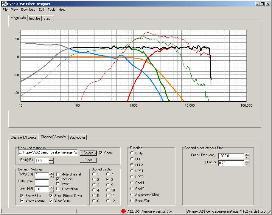 Audio Amp Design Software
