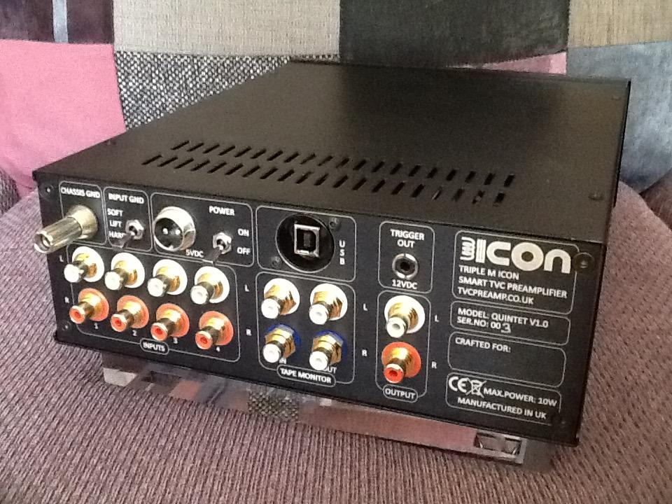 [icOn TVC passive preamp - rear view]