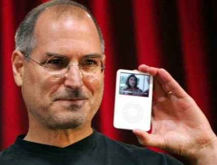 [Steve Jobs with iPod]