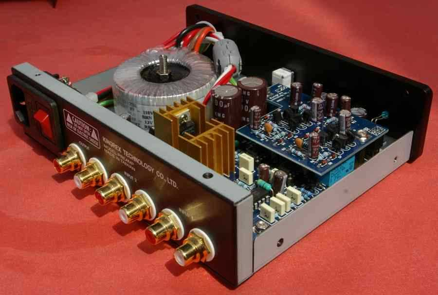 [Kingrex preamp - rear view]