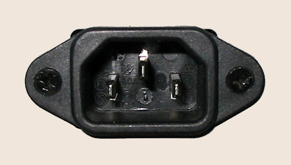 [Mains IEC socket]