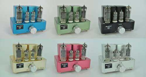 [Colour choices for the Miniwatt integrated valve amplifer]