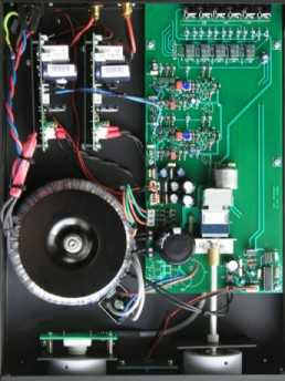 [The interior of the the Monrio MJ amplifier]