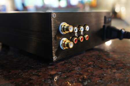 [PGA2311 Preamplifier - rear view]