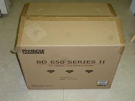[Pinnacle packing box, closed]