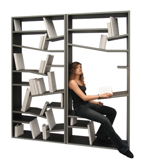 [Seated bookshelf]
