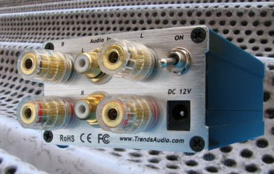 Trends Audio TA-10.2.P class-T power amplifier - rear view