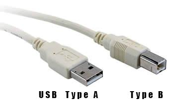 [USB- type A and type B]