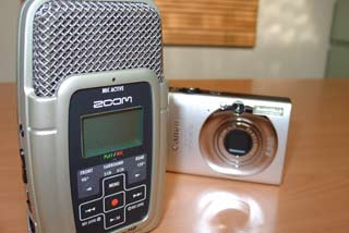 [Zoom H2 portable solid state recorder]