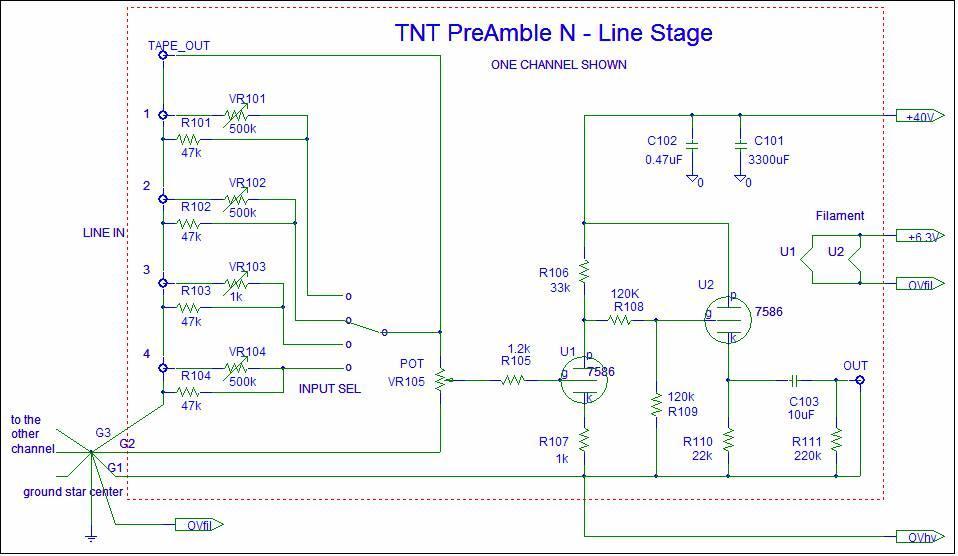 TNT PreAmble N - DIY nuvistor stereo preamplifier [English]