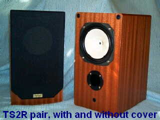 [TS2R speakers, with and without cover]