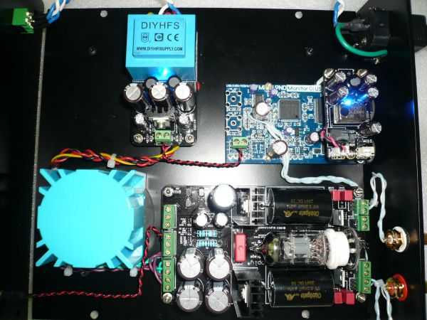 [L'interno del DAC USB Diy HiFi Supply Cleo]