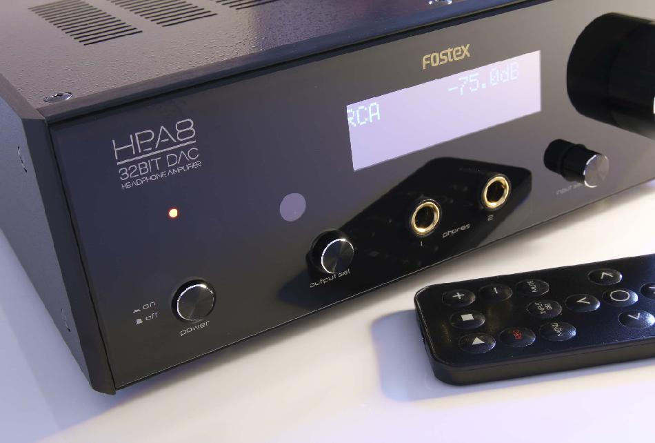 [Fostex HP-A8C DAC front panel]