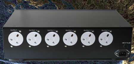 [James Audio mains conditioner - rear view]