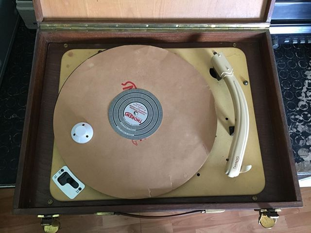 [Old Thorens turntable] width=