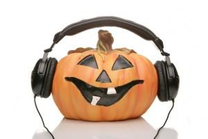 [Pumpkin with headphones]