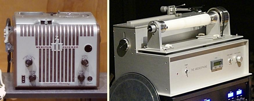 [Webcor wire recorder and Archeophone]
